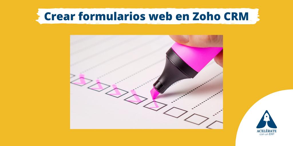 Cómo crear formularios web en Zoho CRM