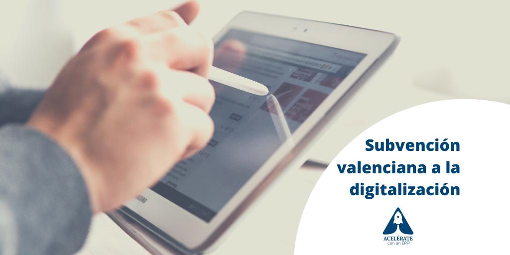 Subvención valenciana a la digitalización